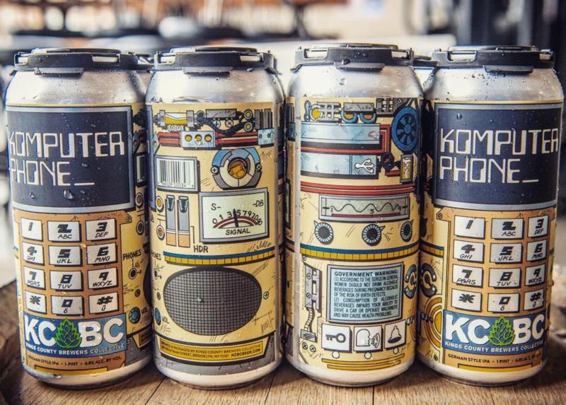 KCBC Komputer Phone beer Label Full Size