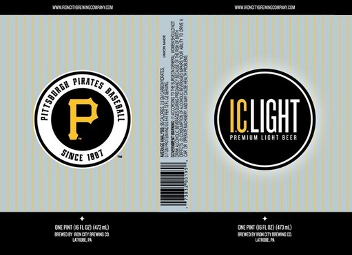 Pittsburgh IC Light beer Label Full Size