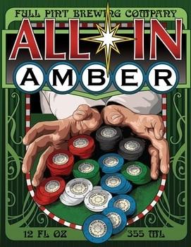 Full Pint All In Amber beer Label Full Size