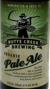 Butte Creek Organic Pale Ale beer Label Full Size