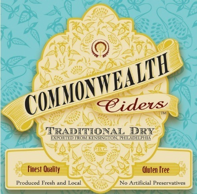 Commonwealth Traditional Dry Cider beer Label Full Size