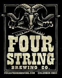Four String Hilltop Heritage Lager beer Label Full Size