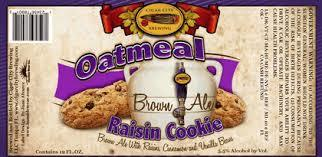 Cigar City Oatmeal Raisin Cookie beer Label Full Size