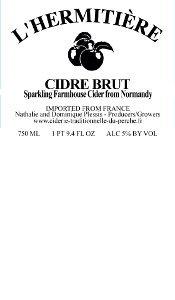 L'Hermitière Cidre Demi-Sec beer Label Full Size