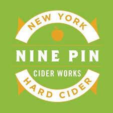 Nine Pin Albany Distilling Bourbon Barrel Aged Cider beer Label Full Size