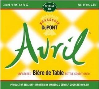 Brasserie Dupont Avril beer Label Full Size