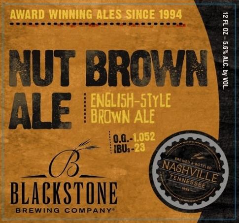Blackstone Nut Brown Ale beer Label Full Size