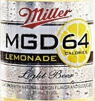 MGD 64 Lemonade beer Label Full Size