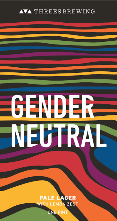 Threes Gender Neutral beer Label Full Size