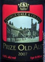Gales Prize Old Ale Vintage 2005 beer Label Full Size