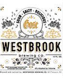 Westbrook Gose Sour,Salty and Delicious Beer