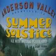 Anderson Valley Summer Solstice beer Label Full Size