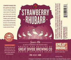 Great Divide Strawberry Rhubarb Sour beer Label Full Size