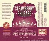 Great Divide Strawberry Rhubarb Sour beer