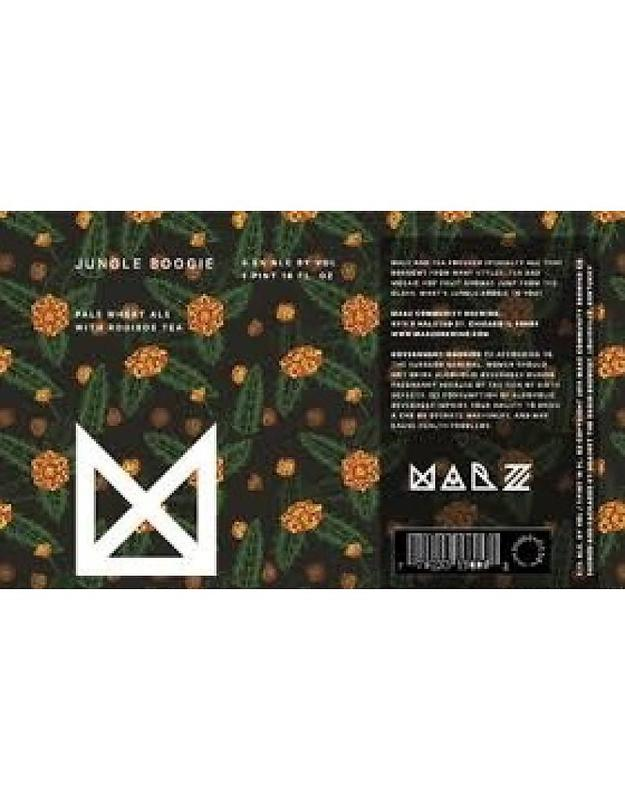 Marz Jungle Boogie with Rooibos Tea beer Label Full Size