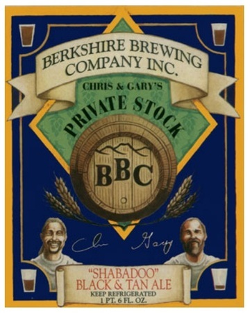 Berkshire Shabadoo Black and Tan Ale beer Label Full Size