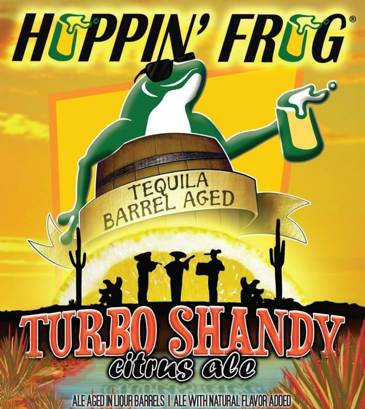 Hoppin' Frog Grapefruit Turbo Shandy beer Label Full Size