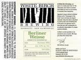 White Birch Peach Berliner Weisse beer