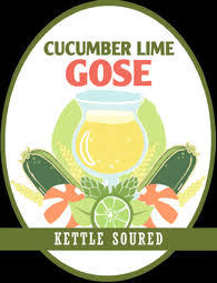Arbor Cucumber Lime Gose beer Label Full Size