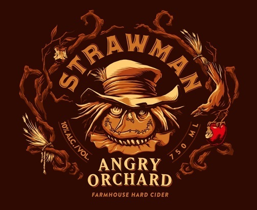 Angry Orchard Strawman beer Label Full Size