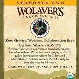 Zero Gravity Berliner Weisse beer