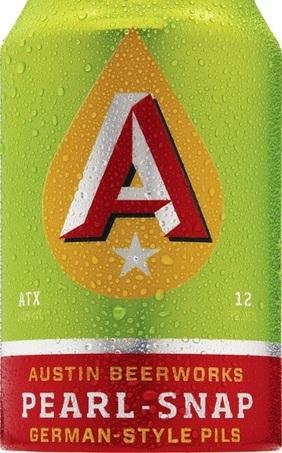 Austin Beerworks Pearl-Snap beer Label Full Size