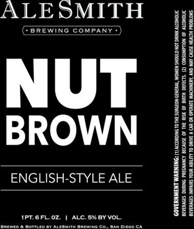 AleSmith Nut Brown Ale beer Label Full Size