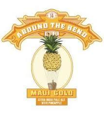 Around the Bend Maui Gold Pineapple beer Label Full Size