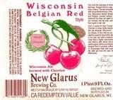 New Glarus Wisconsin Belgian Red Beer