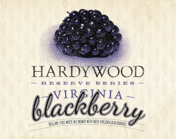 Hardywood Park Virginia Blackberry beer Label Full Size