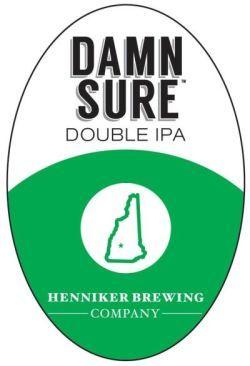 Henniker Damn Sure beer Label Full Size
