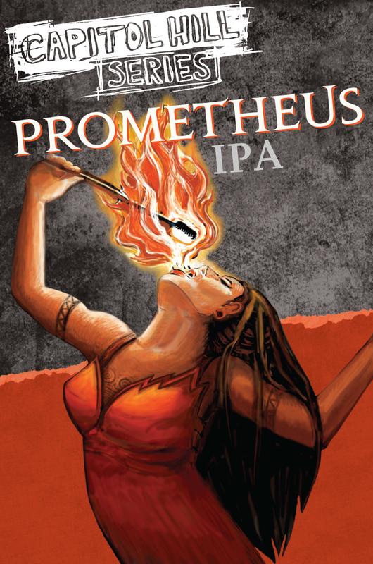 Elysian Prometheus beer Label Full Size