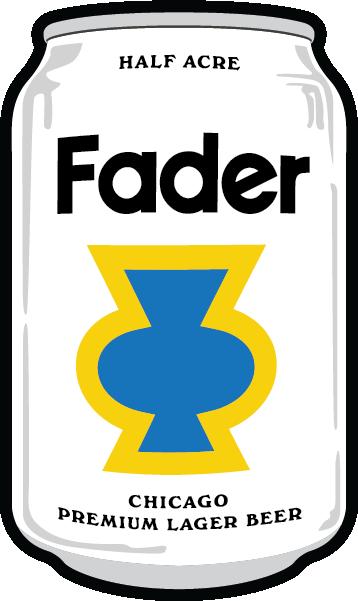 Half Acre Fader Lager beer Label Full Size