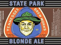 Tennessee Brew Works State Park Blonde Ale beer Label Full Size