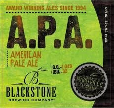 Blackstone American Pale Ale beer Label Full Size