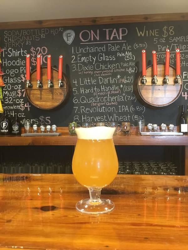 Fairfield Craft Ales Little Darlin' Fire IPA w/habanero beer Label Full Size
