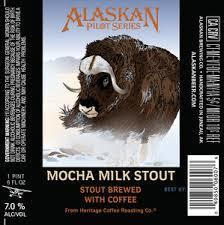 Alaskan Mocha Milk Stout beer Label Full Size