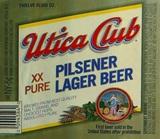 Utica Club Pilsener beer