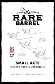 The Rare Barrel Small Acts beer Label Full Size