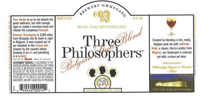 Ommegang Three Philosophers Beer