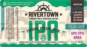 Rivertown IPA beer Label Full Size