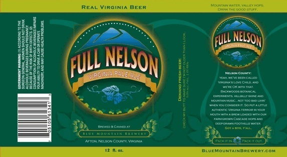 Blue Mountain Full Nelson Virginia Pale Ale Beer