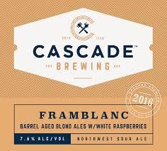 Cascade Framblanc 2016 beer Label Full Size