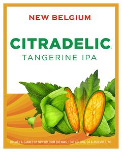 New Belgium Citradelic Tangerine IPA beer Label Full Size