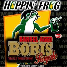 Hoppin' Frog Barrel Aged Boris Royale beer Label Full Size