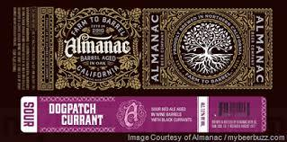 Almanac Dogpatch Currant beer Label Full Size