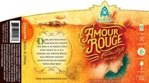 Mantra Amour Rouge beer Label Full Size
