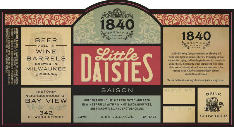 1840 Little Daisies beer Label Full Size