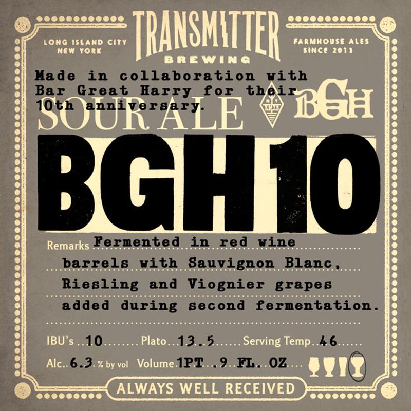 Transmitter BGH10 beer Label Full Size