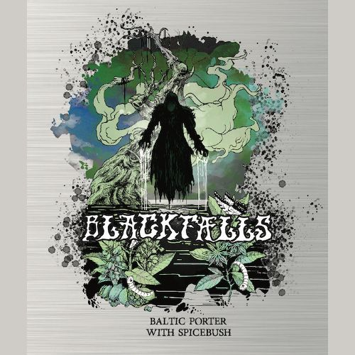 Burial / Jackie O's Blackfalls Baltic Porter w/ spicebush beer Label Full Size